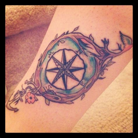 medium sized tattoo designs simple and unique compass feminine and