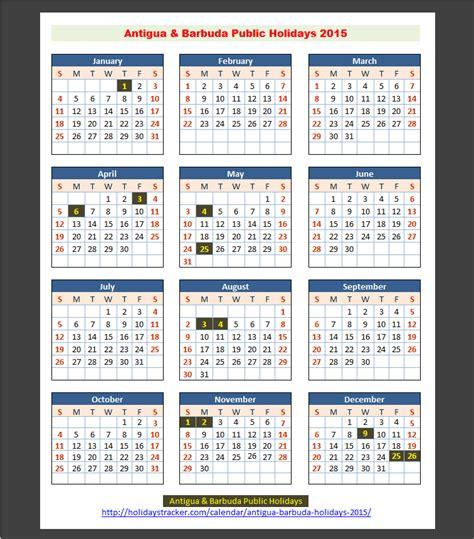 Antigua And Barbuda Calend 2018 Antigua Barbuda Holidays 2015 Holidays Tracker