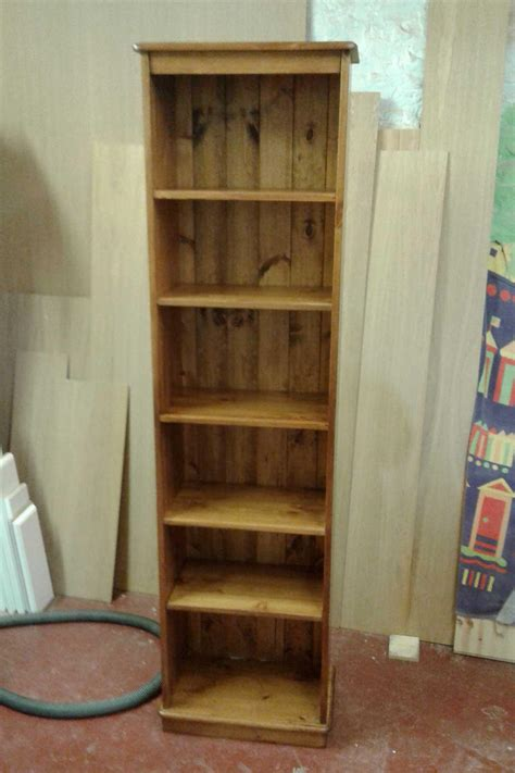 narrow pine bookcase narrow pine bookcase made to order