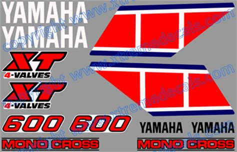Sticker Yamaha 600 Xt by Graphics And Stickers Decals For Yamaha Xt 600 Series