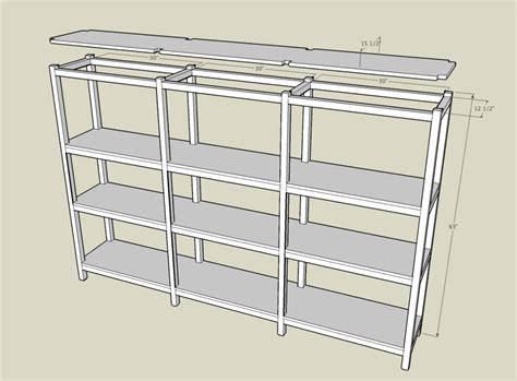 Storage Shelf Plans Free by Garage Shelf Plans Free Shelf Plans Build A Simple