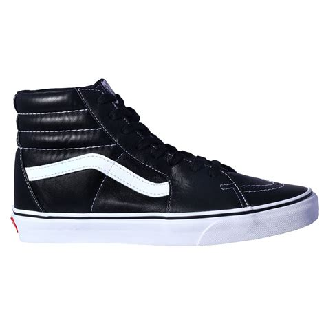 buy vans sk8 hi aged leather boots black
