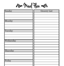 menu chart template printable meal planning templates to simplify your