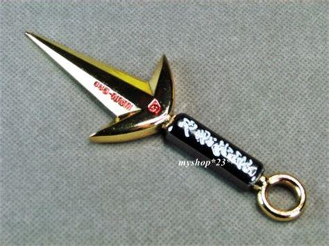 Kunai Minato Gold yondaime kunai 5 quot weapon key ring shuriken namikaze