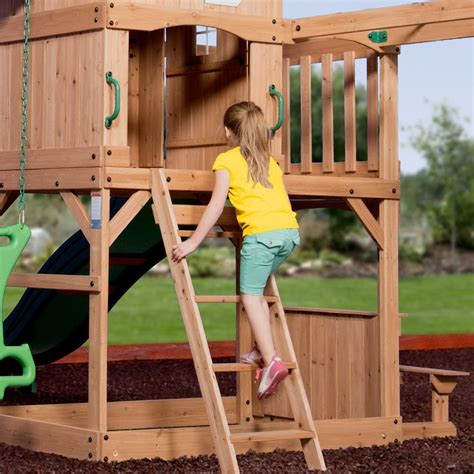 montpelier swing set montpelier wooden swing set playsets backyard discovery