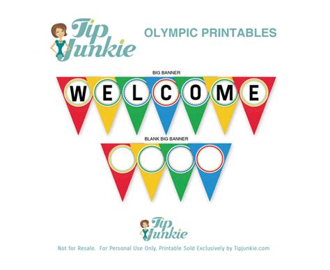 free printable welcome banner template welcome triangle pennant banner free printable tip junkie