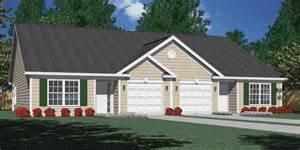 duplex with garage plans houseplans biz house plan d1261 b duplex 1261 b