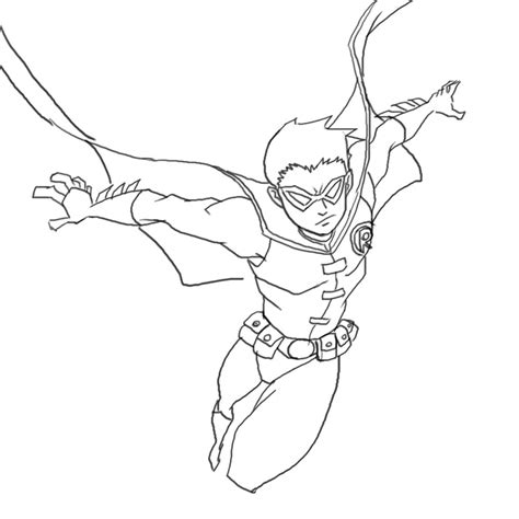 Robin Superhero Coloring Page Printable Coloring Page Kids Robin Coloring Pages
