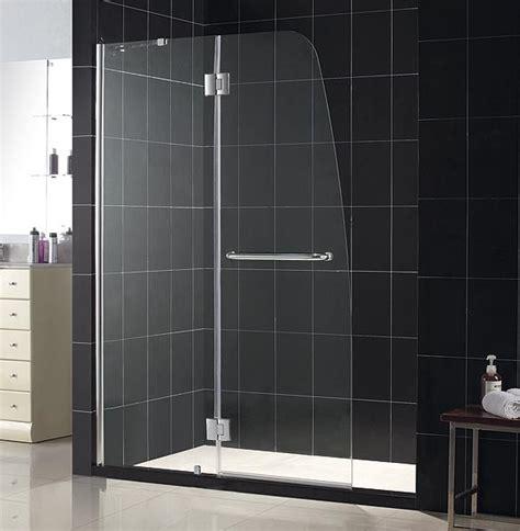 Shower Doors Glass Aqua Plus Shower Door Frameless Shower Door By Dreamline Hinged Shower Doors