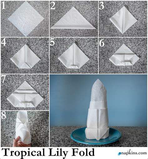 Paper Table Napkin Folding - tropical napkin fold how to fold a napkin