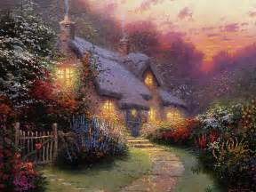 kinkade cottage paintings of light