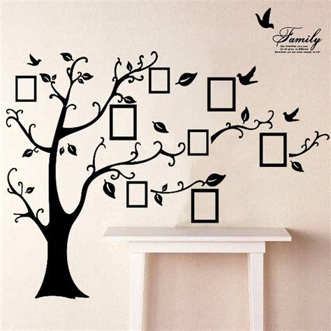 Wall Stiker 60x90 Ay803b Black Tree With Frame 2 5 متر إزالة الذاكرة شجرة صورة إطارات خلفيات صور ملصقات
