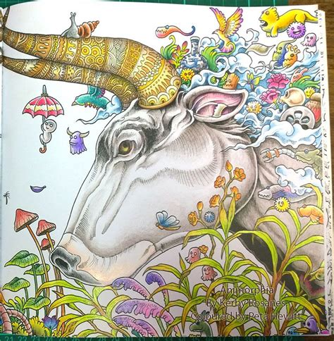 libro animorphia postcards animorphia by kerby rosanes coloured by peta hewitt 1 im 225 genes paletas de