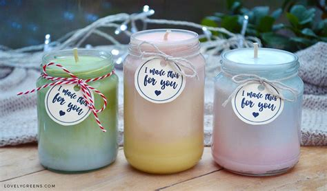diy candles ombre candles recipe lovely greens