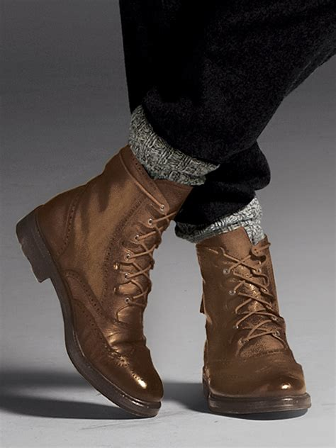 Bag Polo King Original 44615 lyst polo ralph laceup leather boots in brown for