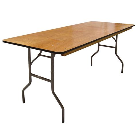 6 wood folding table 6 wood banquet table for rental halls and events