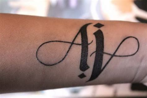 aj tattoo design ambigram arm ideas and ambigram arm designs