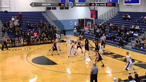 bentley basketball bentley s basketball vs adelphi 1 13 16