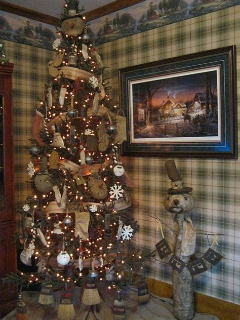 primitive christmas tree christmas pinterest
