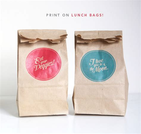 print on brown paper bags