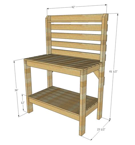 free potting bench plans ana white ryobination potting bench diy projects