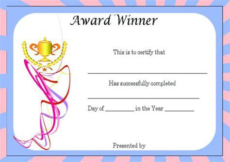 winners certificate template winner certificate template 40 word templates for