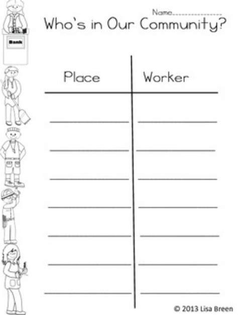 Community helpers worksheet | Unit 2 Communities