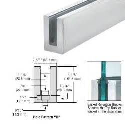 banister attachment crl mill aluminum 120 quot b6n series standard square base