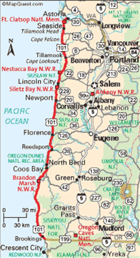 map of oregon and california coast oregon coast travel the ways to get there