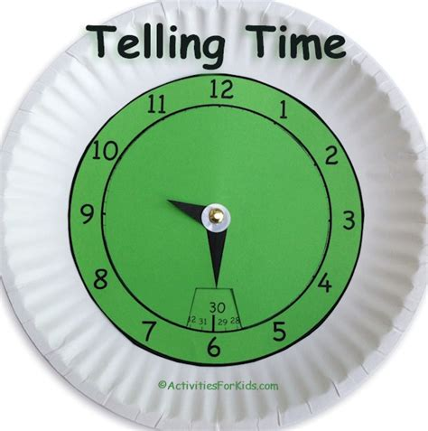 printable clock with hours and minutes telling time classroom printout hours and minutes