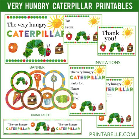 printable version of the very hungry caterpillar very hungry caterpillar printables party printables games
