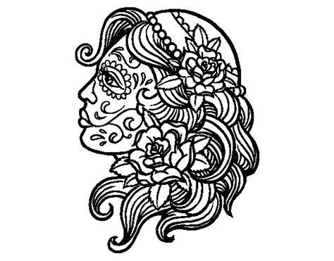 imagenes para dibujar tattoo dibujo de tatuaje de catrina para colorear dibujos net