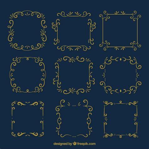 cornici d oro cornici ornamentali d oro scaricare vettori gratis
