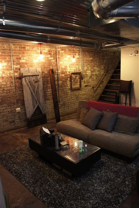 basement brick wall ideas like the exposed pipes height added brick wall and