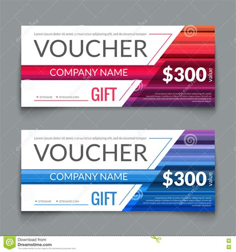 discount voucher market design template with colorful