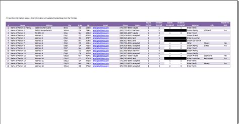 Wedding Rsvp Tracker Template Spreadsheetshoppe Rsvp Tracker Template