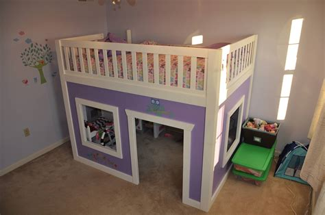 Play House Bunk Beds White Playhouse Loft Bed Size Diy Projects