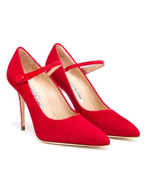 Manolo Blahnik Poppy Heels by Lyst Manolo Blahnik High Heel Suede Janes In