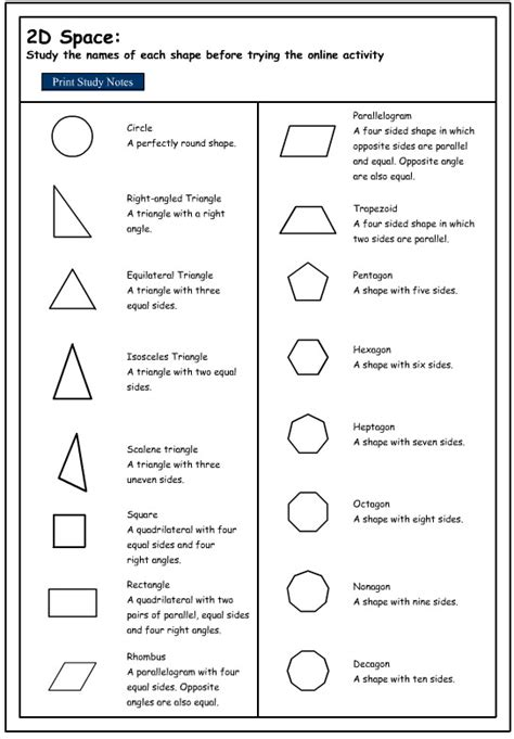maths shapes with names worksheets reviewrevitol free printable worksheets and activities studying the names of 2d shapes mathematics skills interactive activity lessons