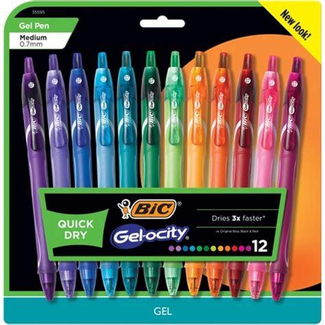 bic multi color pen bic 174 gel ocity gel pens 0 7 mm medium point