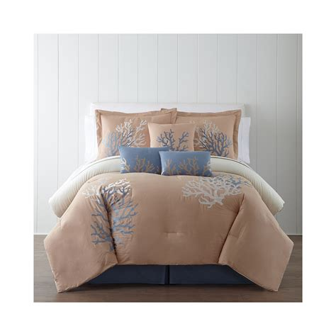 7 Comforter Set Cheap by Cheap Panama Coral Sea 7 Pc Comforter Set Now