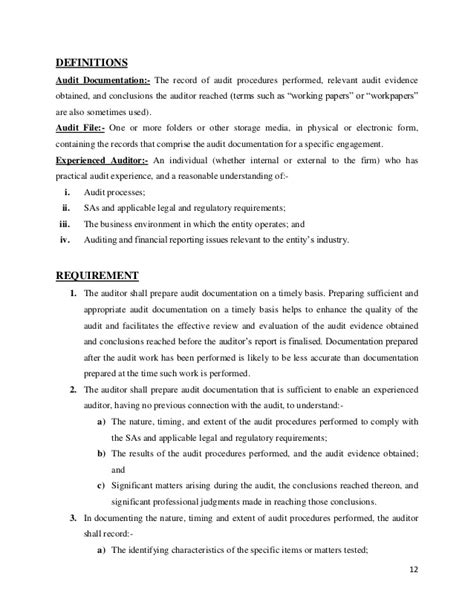 audit workpaper template audit project