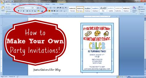 free printable design your own birthday invitations how to make your own invitations just a and