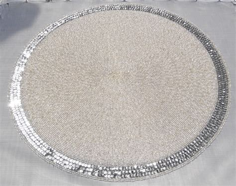 beaded table mats and coasters high quality handmade paillette coaster decorative