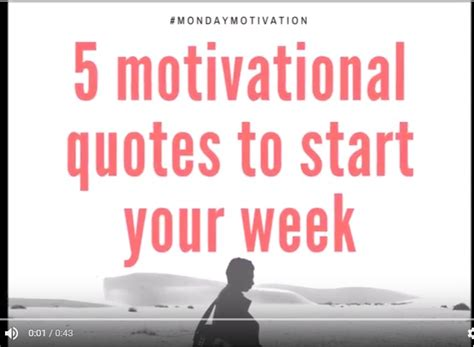 5 Dishes To Start The Week With by 5 Motivational Quotes To Start Your Week Izey