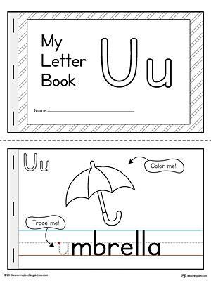 printable alphabet mini books letter u mini book printable myteachingstation com