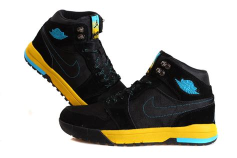 nike climbing shoes nike 1 trek black yellow blue climbing shoes
