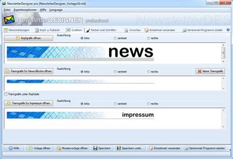Design Vorlagen Newsletter newsletter designen software programm