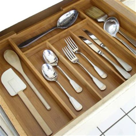 Kitchen Drawer Cutlery Trays by Expandable Bamboo Cutlery Tray Kitchen