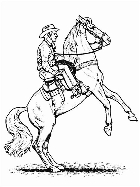 coloring pages of cowboys and horses printable cowboy coloring pages coloring me